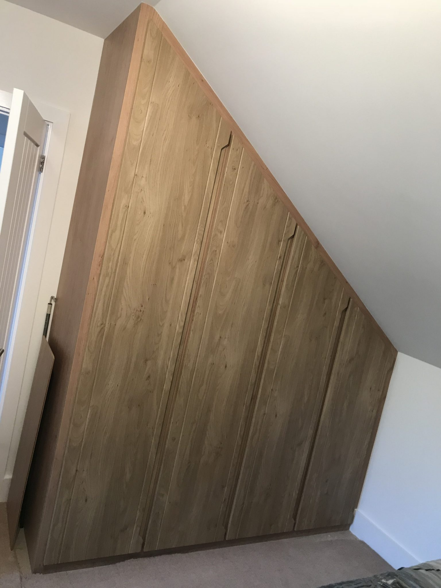 angled made to measure bedroom furniture